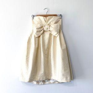 Betsey Johnson Evening Cupcake Polka Dot Dress
